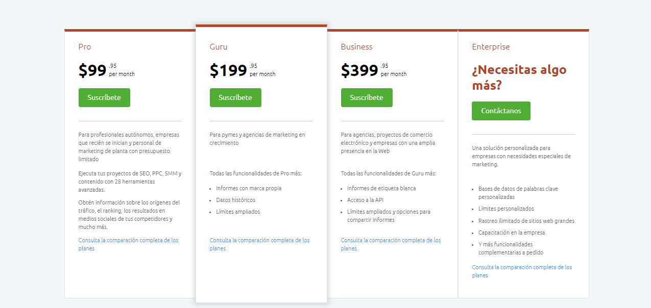 crear usuario en SEMRUSH