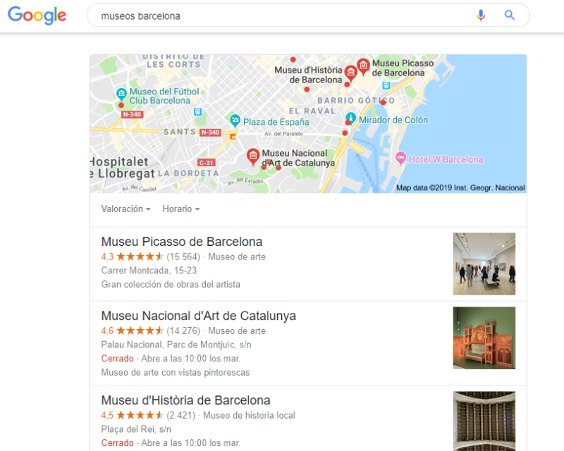 museos barcelona google my business