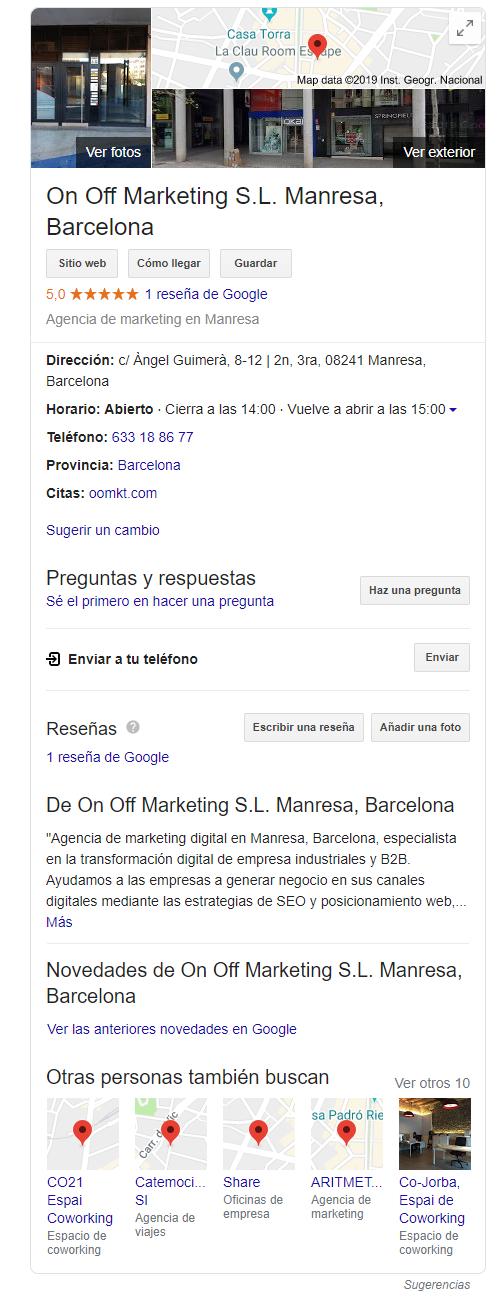optimizar google my business